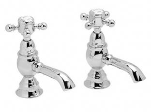 Heritage Hartlebury Basin Pillar Taps (Chrome) - THRC00